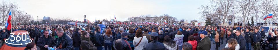 Митинг народной воли в Севастополе 23.02.2014