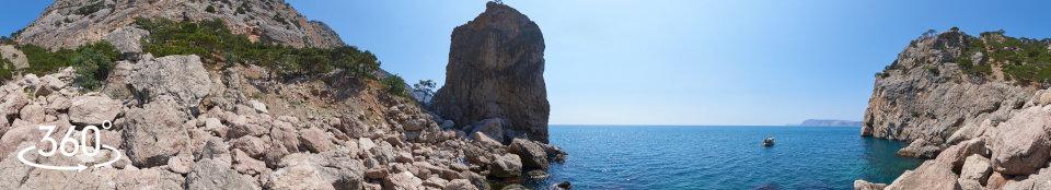 Пляж под Первым Шпиталем (Ближним Зубом) - панорама 360 градусов