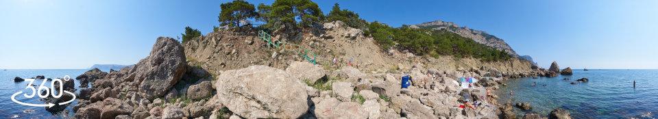 Инжир пляж Блуждающий - панорама 360 градусов