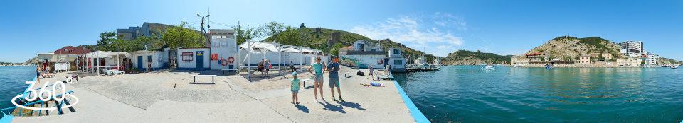 Городской пляж Лягушатник - сферическая панорама 360 градусов