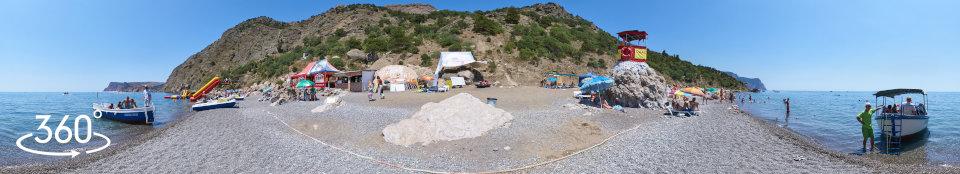 Ближний пляж - 3д панорама 360 градусов