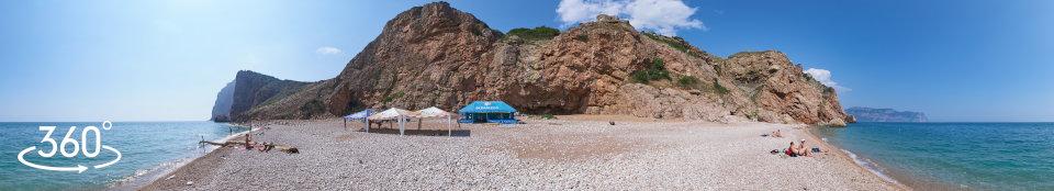 Пляж Васили - панорама 360 градусов
