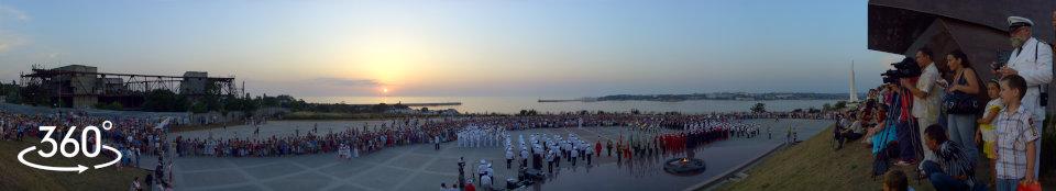 Гранд-дефиле Military tatoo 2010. Концерт на мысе Хрустальный Севастополь. Панорама 360 гр.