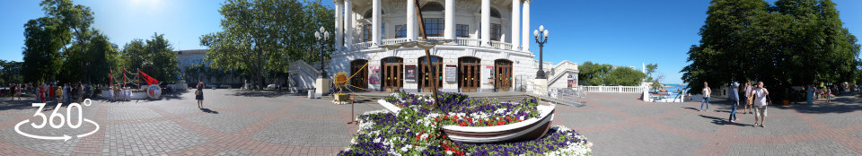 Выставка цветов на Приморском бульваре