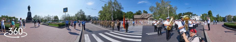 Площадь Нахимова. Парад военно-исторических клубов. Панорама 360 градусов