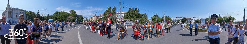 Площадь Ушакова. Парад военно-исторических клубов. Панорама 360 градусов