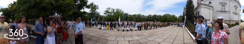 Парад военно-исторических клубов. Панорама 360 градусов