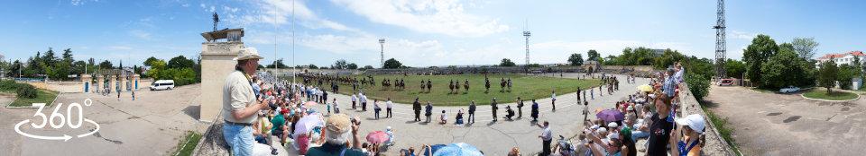 Казаки на стадионе КЧФ. 12 июня 2015 г.