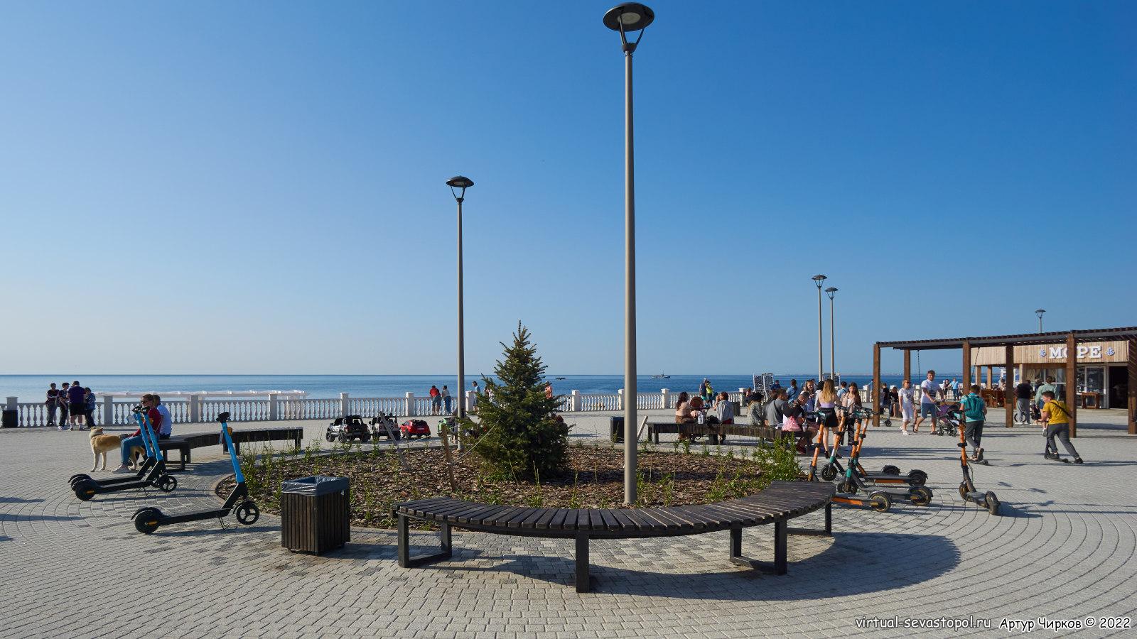 Набебежная пляжа Парк Победы