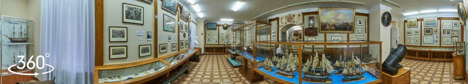 Музей Черноморского флота России в Севастополе, панорамное фото зала № 1