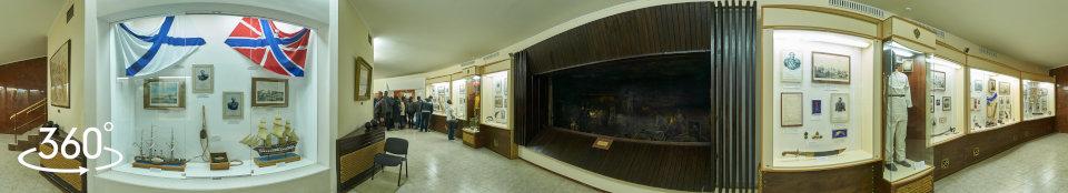 360 градусов Панорама Оборона Севастополя 1854 - 1855 г.г.  Экспозиция - диорама Минная война