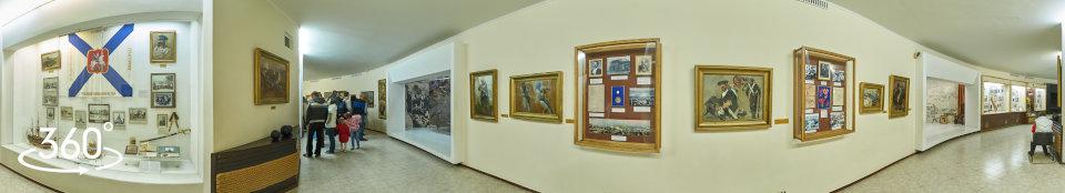 Панорама Оборона Севастополя 1854 - 1855 г.г. Экспозиция уцелевший  фрагмент панорамы Рубо фото