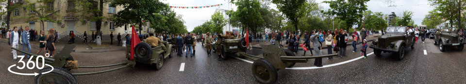 45-мм противотанковые пушки на параде 9 мая в Севастополе